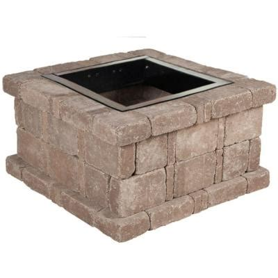 Pavestone Pit Insert pavestone 38 5 in x 21 in rumblestone square pit kit in cafe rsk50569 the home depot