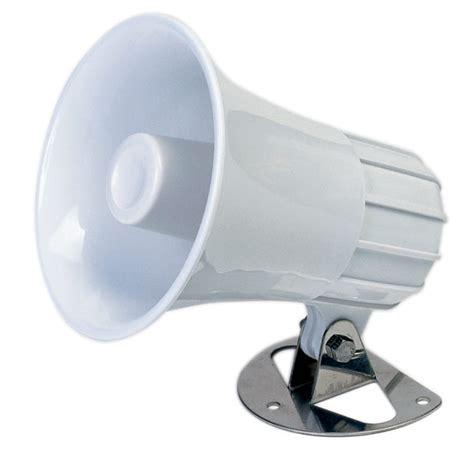 boat horn west marine standard horizon 5 quot round hailer foghorn speaker west marine