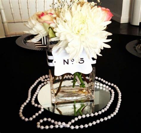 chanel inspired centerpiece wedding jasmine pinterest