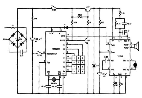 capacitor in telephone circuit pulse dialing system for interfacing telephone circuit circuit diagram world