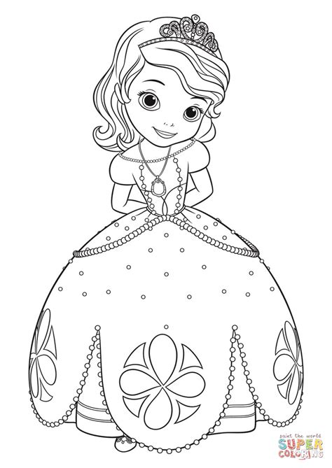 Princess Sofia Coloring Pages Car Interior Design Princess Sofia Coloring Pics