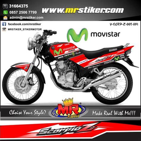 Stiker Scorpio Z 20092010 Merah Hitam scorpio movistar stiker motor striping motor suka suka decal motor mr stiker