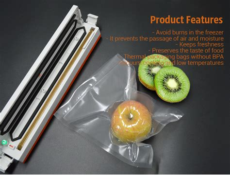 Plastik Vacuum 15 X 25 Cm 25cm x 500cm 1 roll vacuum heat sealer food saver storage