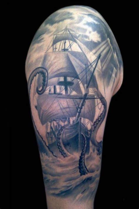 black and grey kraken tattoo frank sanchez nature animal octopus tattoos page 1