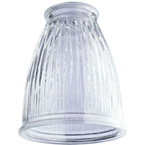 L Globes Home Depot by Westinghouse 5 In Clear Pleated Shade With 2 1 4
