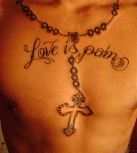 chest tattoos pain 40 religious rosary tattoos for chest