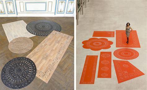 Cuttin A Rug by Vinyl Laser Cut Carpets Famille Summerbelle