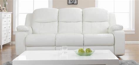 cheap couches montreal montreal blossom white reclining 3 1 1 seater leather