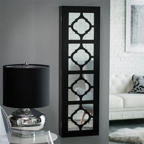 lighted jewelry armoire have to have it belham living lighted locking quatrefoil