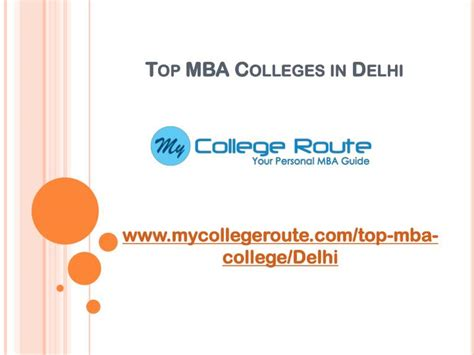 Mba In Delhi by Ppt Top Mba Colleges In Delhi Ncr Powerpoint