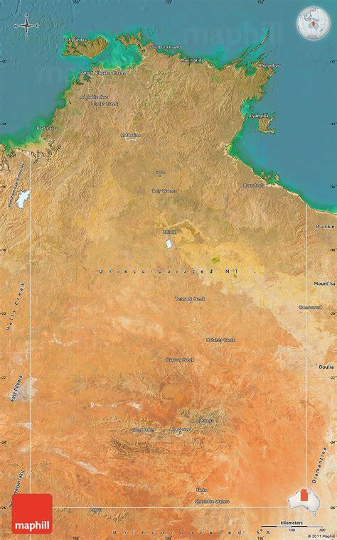 map northern australia satellite map of northern territory