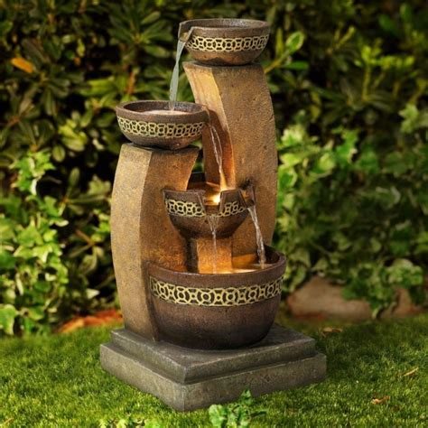 home decor water fountains cascading fountain fresh garden decor