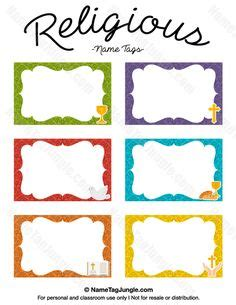 Free Printable Volunteer Name Tags The Template Can Also Be Used For Creating Items Like Labels Volunteer Name Tag Template