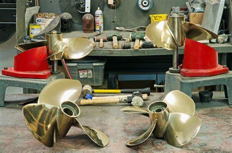 boat propeller repair service bronze nibral inboard propeller repair at propmd