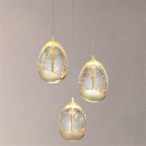 Buy John Lewis Droplet Led 3 Pendant Ceiling Light John Glass Droplet Ceiling Light