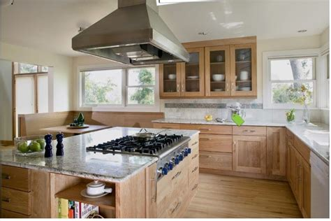 Red Birch Cabinets Kitchen - red birch cabinets with white countertop kitchen pinterest