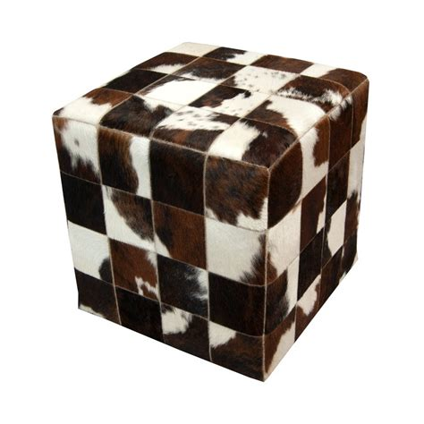 Accessories Comely Design Ideas For Cowhide Ottoman Cube Cowhide Cube Ottoman