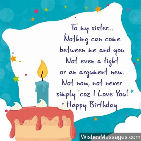 Birthday Card Messages For Birthday Wishes For Sister Quotes And Messages
