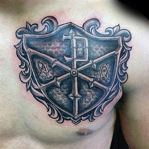 tattoo chest shield 50 chi rho tattoo designs for men christian symbol ink ideas