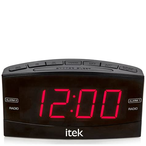itek senior big button jumbo led alarm clock radio black iwoot