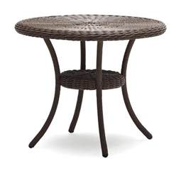 Small Outdoor Bistro Table Strathwood Hayden All Weather Wicker Table Patio Furniture Accessories