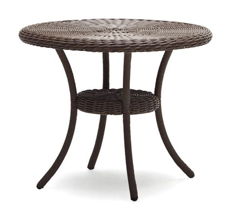 wicker patio table strathwood hayden all weather wicker table