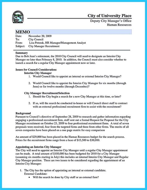 Resume Ideas For Managers by City Manager Resume Resume Ideas