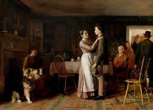 breaking home ties 19th century american paintings hovenden