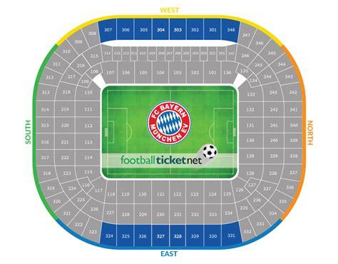 Allianz Arena Away Section by Bayern Munich Vs Arsenal 15 02 2017 Football Ticket Net
