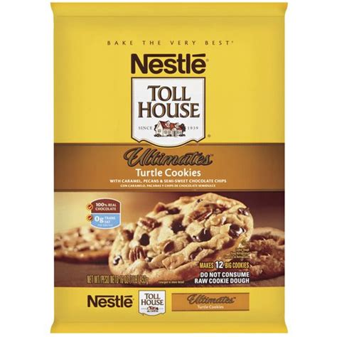 nestle toll house cookie dough nestle toll house ultimates turtle cookies cookie dough
