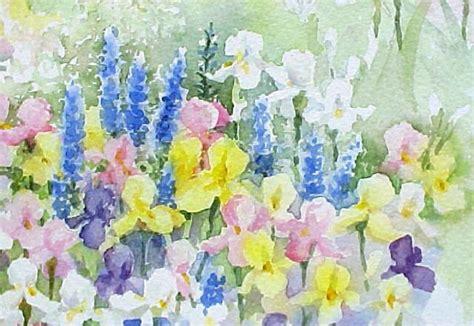 watercolor garden tutorial susie short s details for painting garden flowers close