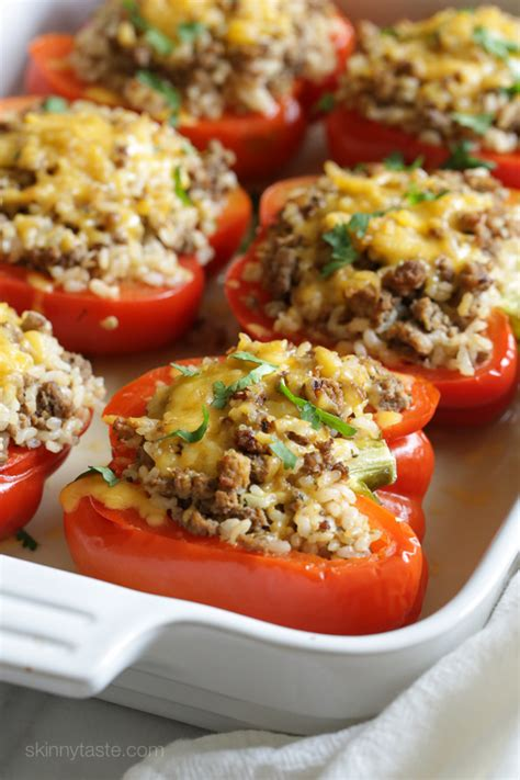turkey stuffed peppers skinnytaste