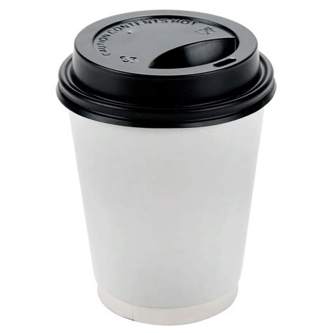 buy coffee cups choice 8 oz black hot paper cup travel lid 100 pack