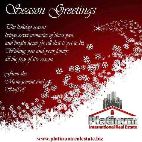 christmas greetings to the staff platinum international real estate and investments belize division season greetings from the