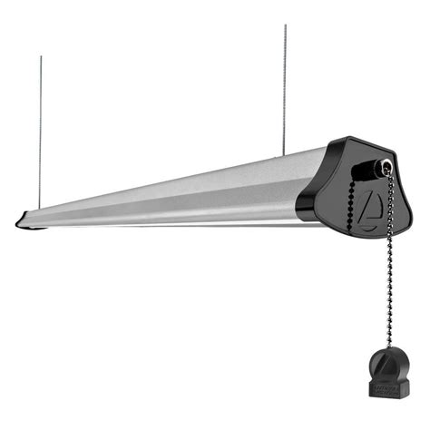 4 shop light lithonia lighting 4 ft integrated 40 watt gray led cable