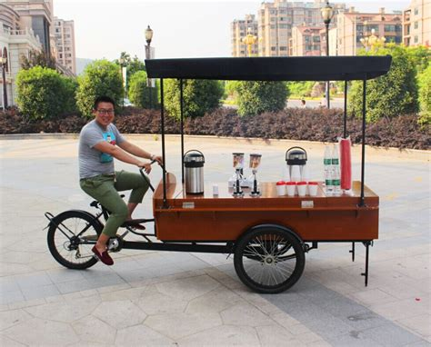 order a mini cart bicyclecart outdoor food cart mobile coffee cart coffee bike for