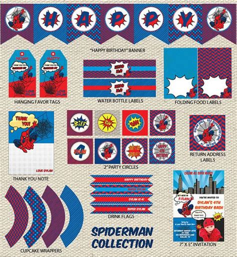 printable spiderman party decorations spiderman birthday party spiderman birthday party