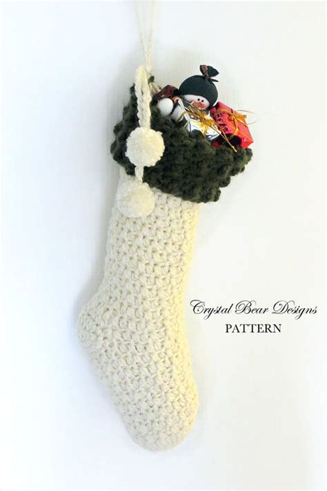 download pattern for christmas stocking crochet christmas stocking pattern xmas stockings