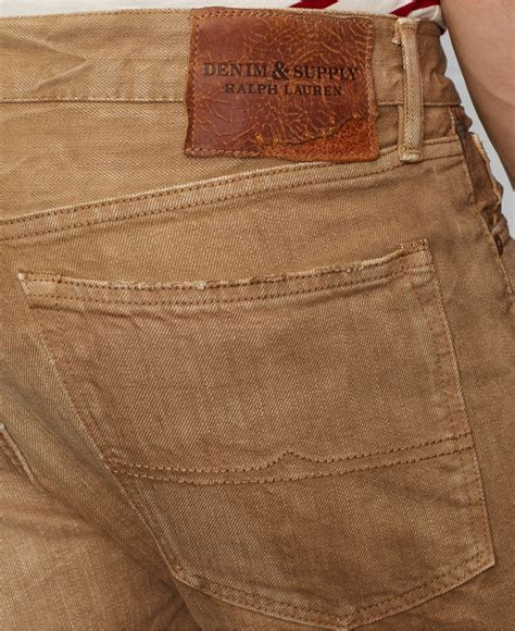 S Denim Bronzee Slim Fit Biru lyst denim supply ralph slim fit arvon wash in brown for