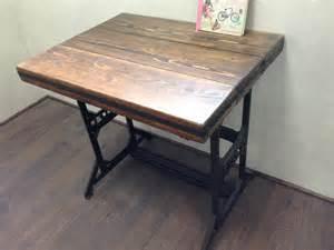 bureau vintage fer forge et bois style loft industriel