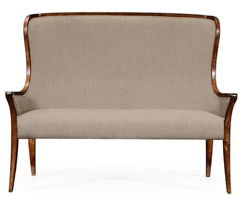 High Back Settee Upholstered high curved back settee upholstered in mazo