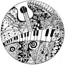 dibujos colorear adultos musica teclado guitarra 9