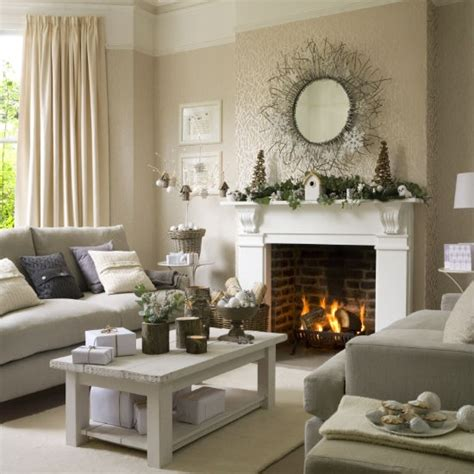 winter woodland christmas living room christmas living