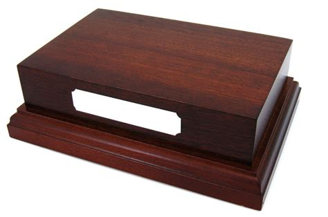 large wooden l base mahogany wooden display plinth base 6x4 quot top for ornaments