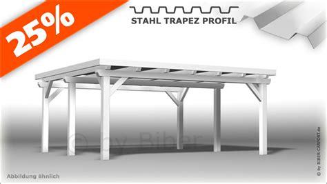 doppelcarport bausatz flachdach bausatz 5 0 x 5 5m pultdach carport mit stahl trapez