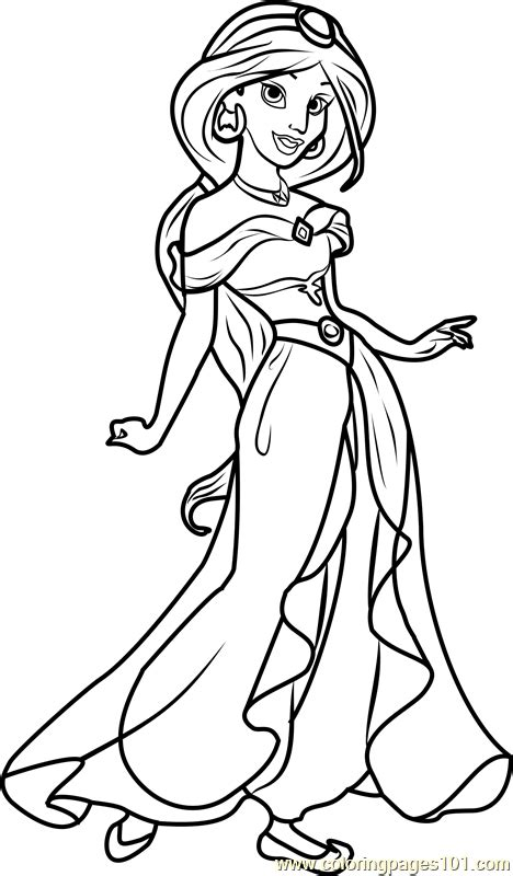 free coloring pages of princess jasmine princess jasmine coloring page free disney princesses