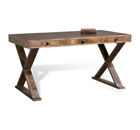 Writing Desk by Salers Gray Solid Wood Writing Desk