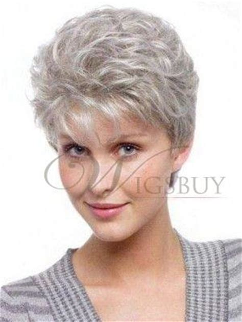 pixie short hairstyle 100% human hair full lace granny