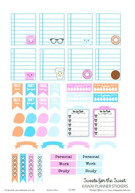 printable planner pinterest kawaii planner stickers free printable download free