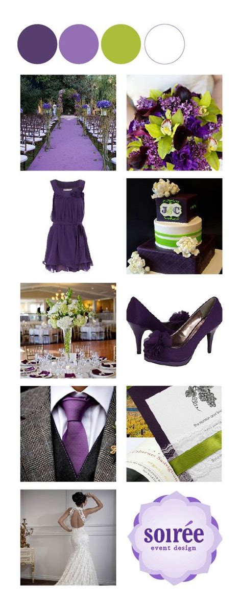 eggplant light purple chartreuse and white color inspiration